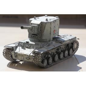 Modelo Escala 1:35 Tanque Guerra Russo Kv-2 Urss Construído