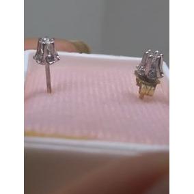 Broqueles Oro 14k Con Diamantes Naturales