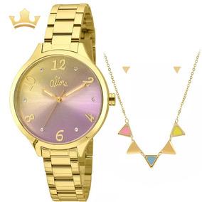 Relógio Allora Feminino Kit Al2036cg/k4t Com Nf