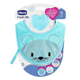 Chicco Babero Y Mordedera Fresh Bib, Color Azul