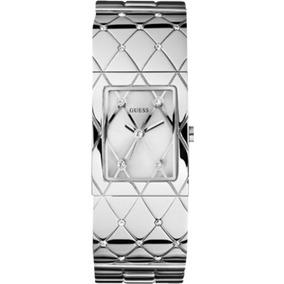 Relógio Guess Feminino Prata Cristais 92419l0glna3 Bracelete