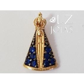 f155a057b59bf Pingente Nossa Senhora Aparecida Ouro Pingentes - Joias e Bijuterias ...