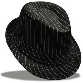 Chapéu Listrado Masculino Aba Larga Sambista Bar Cowboy Top 3c3e405081f