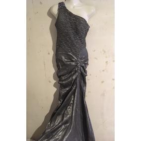 Vestido De Noche Usado Largo Fiesta Salon Strapless Sirena 8cbfcd7ed57e