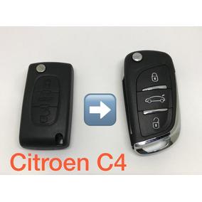 Chave Canivete Completa Citroen C4 Pallas 3 Botões