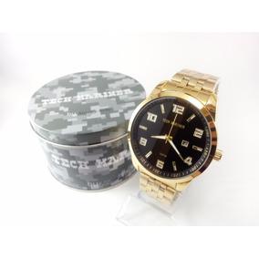 Relógio Masculino Tech Mariner Dourado Com Garantia!