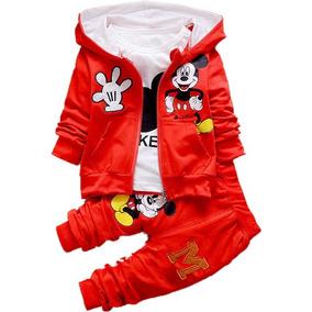 Conjunto Mickey Mouse Para Niño 3 Piezas Chaqueta Sudadera