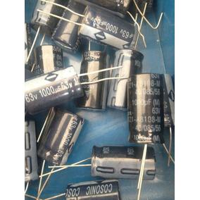 Capacitor Eletrolitico 1000 Uf 63 V 16 Unidades 12 Reais!!!