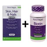 Skin, Hair & Nails 60cp + Biotina 10,000mcg 100 Tab - Natrol