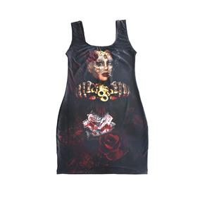 ed38f0ee96353 Vestido Vanhoven Caveira - Skull - Katrina Warrior - Tattoo