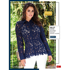 Blusa Azul Cklass Cod 981- 37 Primavera-verano