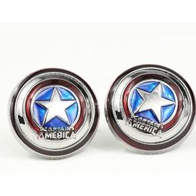 Mancuernillas Capitán América Cómic Dc Gemelos Camisa Envío