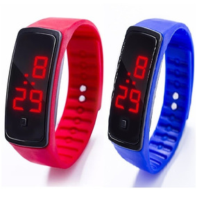 ee78c3e5570 Relógio De Led Retangular - Relógios De Pulso no Mercado Livre Brasil