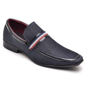 198990c35 Sapato Social Em Franca - Sapatos Sociais para Masculino Azul escuro ...