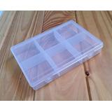 Caja Organizador Plástico Organizadora De 6 Divisiones Bijou