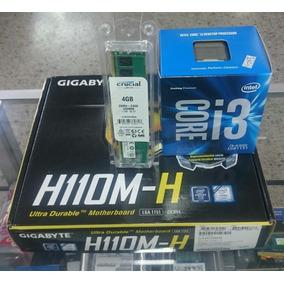 Tarjeta M Gigabyte H110m-h+ Procesador I3 6300 6ta+ 4gb Ddr4