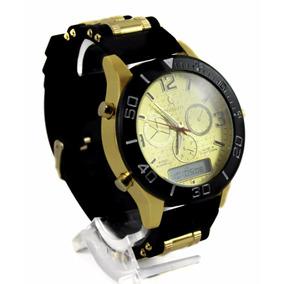 290fc021015 Relogio Dourado Potenzia Replica - Relógios De Pulso no Mercado ...
