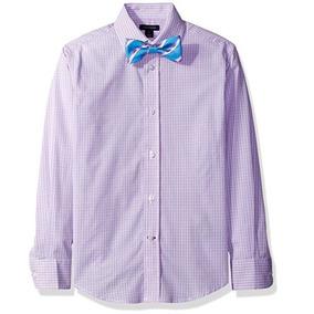 Tommy Hilfiger Camisa Elegante Formal Con Moño Talla 12nueva