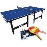 Mesa Tênis Mesa Ping Pong Olimpic #1013 + Kit Raquetes #5030