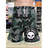 Short Black Skull Camuflado Tecido Top Veste Do 36 Ao 46