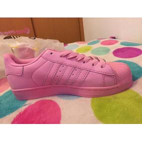 e65e3b57f Tenis Adidas Superstar Rosa Pastel - Tenis Adidas Mujeres de Mujer ...
