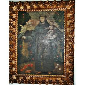 Quadro Cusquenho ( Peru ) Santo Antonio Seculo 19