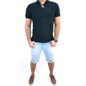 Bermuda Jeans Sarja Masculina