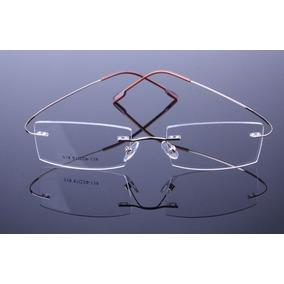 1080ba023a941 Armação Discreta Dourada Invisível Óculos Leve Titanium A578. R  69 99