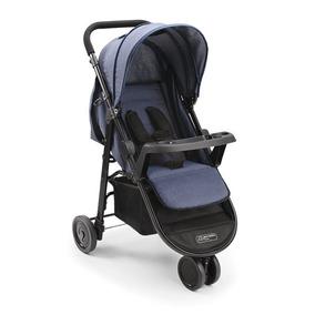 Carrinho Bebê Multikids Baby 3 Rodas Agile Jeans Bb527