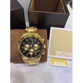 Relogio Michael Kors Feminino Dourado Fundo Preto - Relógio Michael ... 9e9848b005