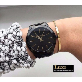 eec250ce60063 Relogio Feminino Slim Preto Mk - Relógio Michael Kors no Mercado ...