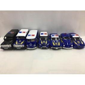 Kit Carros Miniaturas Da Polícia Federal Com 7 Unidades
