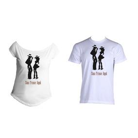 2642e223682bc Camiseta Casal Country - Camisetas Manga Curta no Mercado Livre Brasil