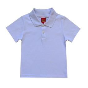 Camisa Infantil Menino Gola Polo Branco Kyly f7b0e0ceac87a