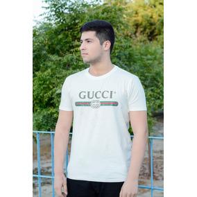 0ee71aba2235a Camisa Gucci Com Logotipo Vintage