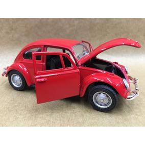 Miniatura Fusca 1967 Cor Vermelho Rodas Originais