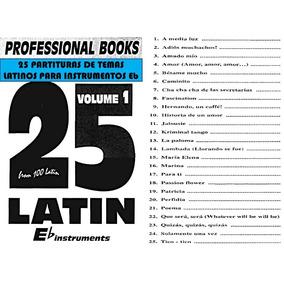 25 Partituras De Temas Latinos Para Instrumentos Eb