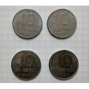 Moedas 10 Cruzeiros 1981/82/83/84