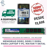 Memoria Ram Ddr2, Ddr3, Ddr4 2gb, 4gb, 8gb Pc Laptop Nuevas