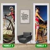 Adesivo Porta Ciclismo Pedal Trilha Bike Bicicleta Down Hill