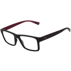 69b567b28 Armani Exchange Ax 3042 L - Óculos De Grau 8281 Preto E Vinh