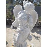 Escultura En Mármol - Angel Del Invierno