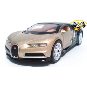Miniatura Bugatti Chiron Dourada 1:34 Welly