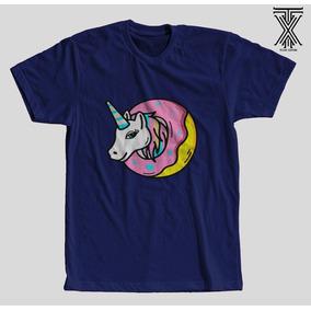 868f8a1af Camisa Camiseta Unicórnio Rosquinha Tumblr Unissex Oferta !