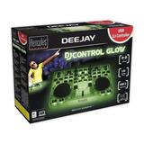 Controladora Dj Hércules Djcontrol Glow Green Nueva Garantía