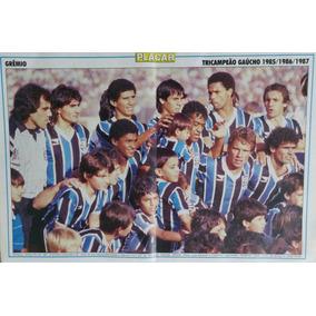Pôster Nostalgia Do Grêmio Tri-campeão Gaúcho 85/86/87