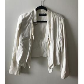 Blazer Tipo Jacketa Zara Blanca