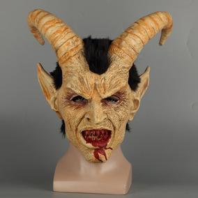 Mascara Diabo Demônio Lúcifer Chifres Realista Halloween