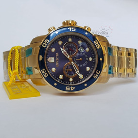Relógio Invicta Promoção 0073 Dourado B. Ouro 18k Original