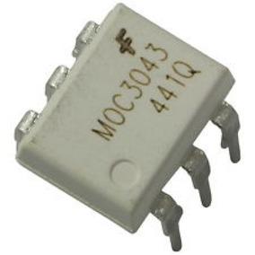 100 Unidades Ci Moc 3043 Moc3043 Optoacoplador